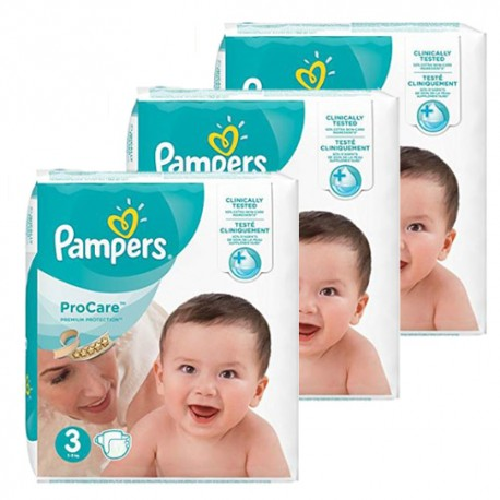 Pampers - Maxi giga pack 384 Couches ProCare Premium protection taille 3 sur Couches Poupon