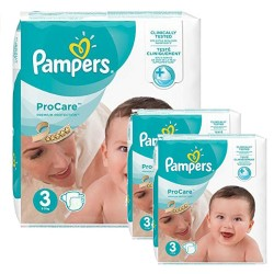 Pampers - Maxi mega pack 480 Couches ProCare Premium protection taille 3
