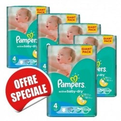 Pampers - Giga pack 260 Couches Active Baby Dry taille 4 sur Couches Poupon