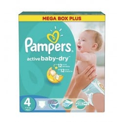 Pampers - 299 Couches Active Baby Dry taille 4 sur Couches Poupon