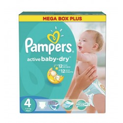 Pampers - 325 Couches Active Baby Dry taille 4 sur Couches Poupon