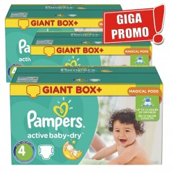 Pampers - 520 Couches Active Baby Dry taille 4 sur Couches Poupon