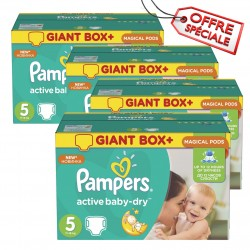 Pampers - Mega pack 110 Couches Active Baby Dry taille 5 sur Couches Poupon