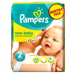 Pampers - Pack 82 Couches New Baby Premium Protection taille 2