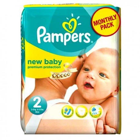 Pampers - Pack 82 Couches New Baby Premium Protection taille 2 sur Couches Poupon