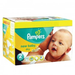 Pampers - Giga pack 246 Couches New Baby Premium Protection taille 2 sur Couches Poupon