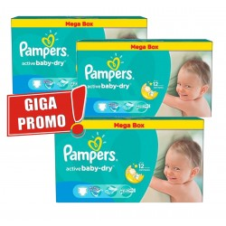 Pampers - 187 Couches Active Baby Dry taille 5 sur Couches Poupon