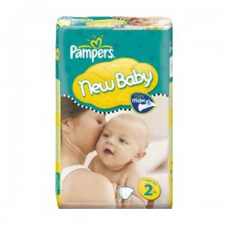 Pampers - Maxi mega pack 492 Couches New Baby Premium Protection taille 2