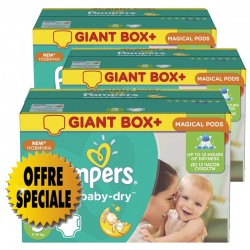 Pampers - 407 Couches Active Baby Dry taille 5 sur Couches Poupon