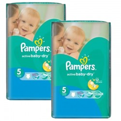 Pampers - 506 Couches Active Baby Dry taille 5 sur Couches Poupon