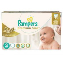 Pampers - Pack 80 Couches Premium Care taille 3