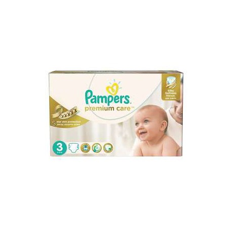 Pampers - Pack 80 Couches Premium Care taille 3 sur Couches Poupon