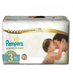 Pampers - Mega pack 100 Couches Premium Care taille 3
