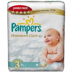 Pampers - Mega pack 180 Couches Premium Care taille 3 sur Couches Poupon