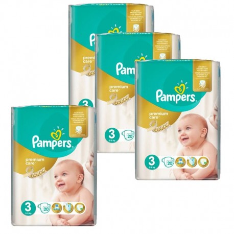 Pampers - Giga pack 220 Couches Premium Care taille 3 sur Couches Poupon