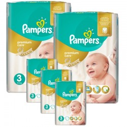 Pampers - Giga pack 240 Couches Premium Care taille 3 sur Couches Poupon