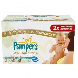 Pampers - Giga pack 260 Couches Premium Care taille 3 sur Couches Poupon