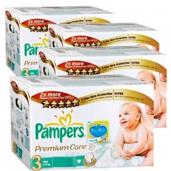 Pampers - Giga pack 280 Couches Premium Care taille 3 sur Couches Poupon