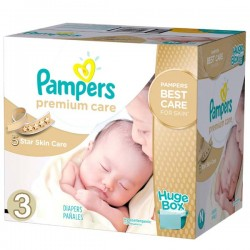 Pampers - Maxi giga pack 340 Couches Premium Care taille 3 sur Couches Poupon