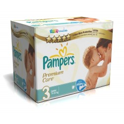 Pampers - Maxi mega pack 400 Couches Premium Care taille 3 sur Couches Poupon