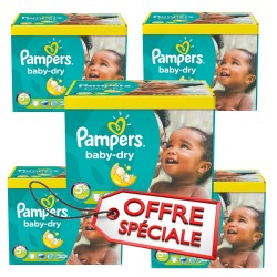 Pampers - Maxi giga pack 325 Couches Baby Dry taille 5+ sur Couches Poupon