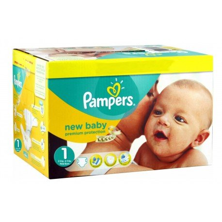 Pampers - Giga pack 288 Couches New Baby Premium Protection taille 1 sur Couches Poupon