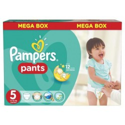 Pampers - Mega pack 128 Couches Baby Dry Pants taille 5 sur Couches Poupon