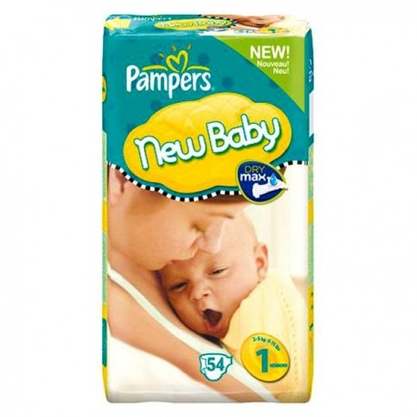 Pampers - Pack 72 Couches New Baby Premium Protection taille 1 sur Couches Poupon