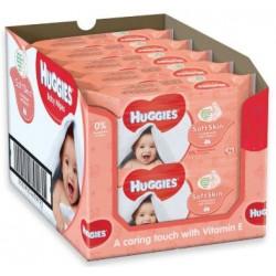 Huggies - Maxi giga pack 336 Lingettes Bébés Soft Skin sur Couches Poupon