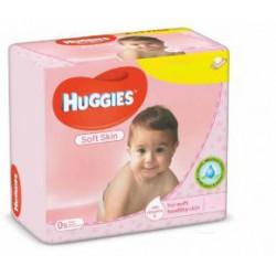 Huggies - Pack jumeaux 504 Lingettes Bébés Soft Skin sur Couches Poupon