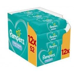 Pampers - Giga pack 208 Lingettes Bébés Fresh Clean sur Couches Poupon