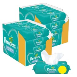 Pampers - Maxi giga pack 312 Lingettes Bébés Fresh Clean sur Couches Poupon