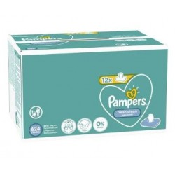 Pampers - Maxi mega pack 416 Lingettes Bébés Fresh Clean sur Couches Poupon