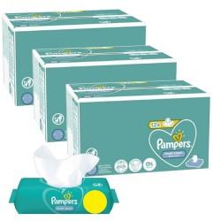 Pampers - Pack jumeaux 624 Lingettes Bébés Fresh Clean sur Couches Poupon