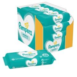 Pampers - Pack jumeaux 728 Lingettes Bébés Sensitive sur Couches Poupon