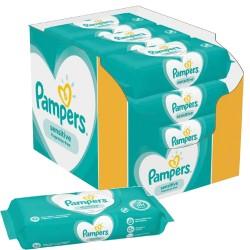 Pampers - Pack jumeaux 936 Lingettes Bébés Sensitive sur Couches Poupon