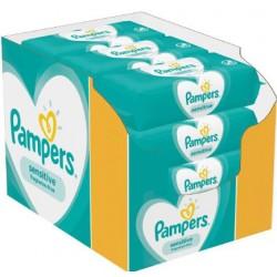 Pampers - Pack jumeaux 1144 Lingettes Bébés Sensitive sur Couches Poupon