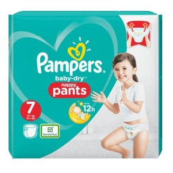 Pampers - Pack 21 Couches Baby Dry Pants taille 7 sur Couches Poupon