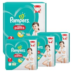Pampers - Pack 63 Couches Baby Dry Pants taille 7 sur Couches Poupon