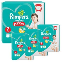 Pampers - Pack 84 Couches Baby Dry Pants taille 7 sur Couches Poupon