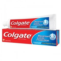 Cavity Protection - Dentifrice Colgate sur Couches Poupon