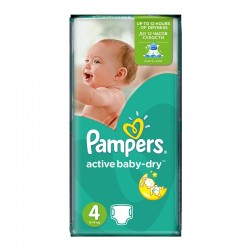 Pampers - Pack 62 Couches Active Baby Dry taille 4 sur Couches Poupon