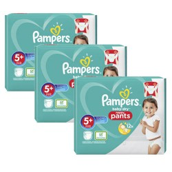 Pampers - Mega pack 170 Couches Baby Dry Pants taille 5+ sur Couches Poupon