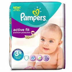 Active Fit - 42 Couches Pampers taille 3 sur Couches Poupon