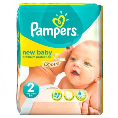 Pampers - Pack 66 Couches New Baby Dry taille 2 sur Couches Poupon