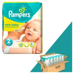 Pampers - Mega pack 198 Couches New Baby Dry taille 2