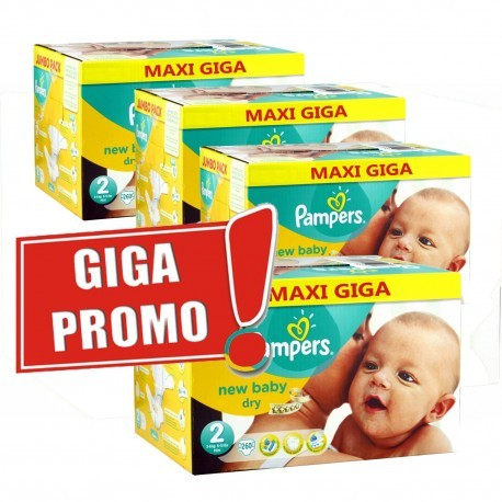Pampers - Giga pack 264 Couches New Baby Dry taille 2 sur Couches Poupon