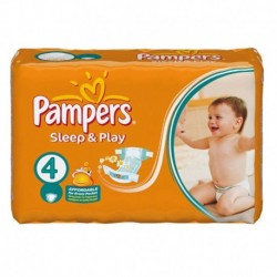 Pampers - Pack 68 Couches Sleep & Play taille 4 sur Couches Poupon