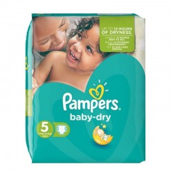 Pampers - Pack 74 Couches Baby Dry taille 5 sur Couches Poupon