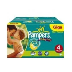 Pampers - Mega pack 150 Couches Baby Dry taille 4 sur Couches Poupon